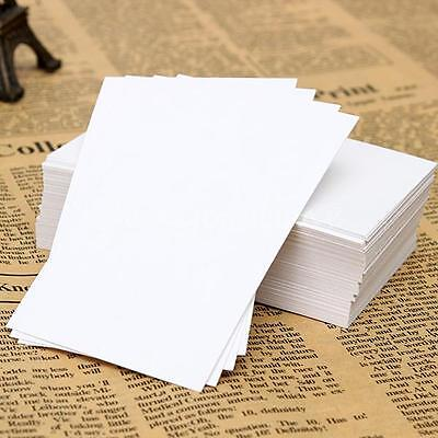 100PCS Greeting Blank Card Trading Business DIY Wood Label Name Tag 90 x 55mm