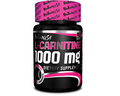 Biotech USA Extreme L-Carnitine Supplement 1000mg Tablets Weight Loss Slimming