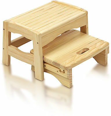 Safety 1st WOODEN TWO STEP STOOL Baby/Child Bathroom/Potty Training Accessory BN