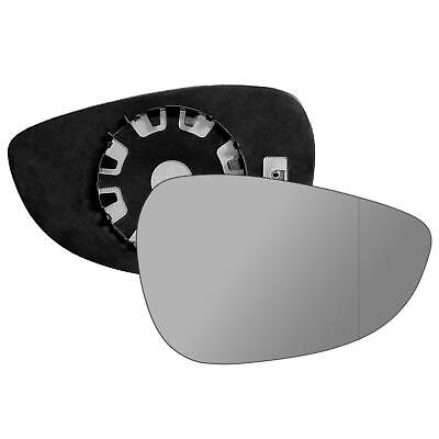 Driver Side WIDE ANGLE HEATED WING MIRROR GLASS Ford Fiesta 2008-On Clip On New