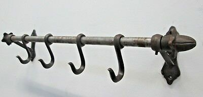 Vintage Style Country Kitchen Wall Mounted Rack Rail Hanger S Hooks