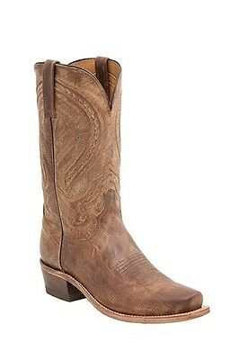 Lucchese M2636 74 Laramie Mens Tan Distressed Goat Leather Western Cowboy Boots
