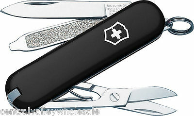 New Victorinox Swiss Army 58mm Knife  BLACK CLASSIC SD   58003