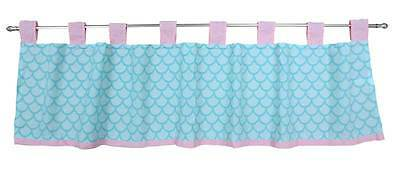 Sea Sweeties Pink and Green Fish Themed Girls Nursery Window Valance by Belle