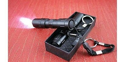 Aluminum Alloy 3W Waterproof LED Flashlight Small Bright Light Torch With Box