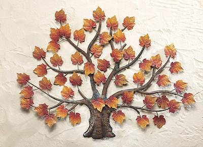 Lovely Fall Autumn Maple Tree with Colorful Leaves Wall Hanging Decor New