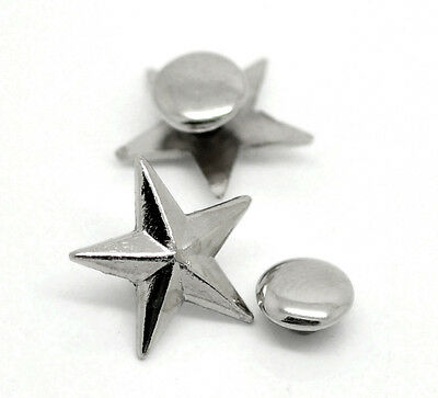 50Sets Hot Sell Silver Tone Spike Rivet Studs Spots 14mmx13mm 7mm