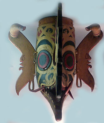 Hudoq Horns Dayak Asian Culture Wood Kalimantang Mythicalprotection Mask Borneo