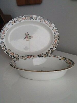 Wood & Sons England VERNON Vegetable Bowl And Platter