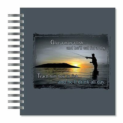 ECOeverywhere Drink All Day Picture Photo Album  18 Pages  Holds 72 Photos  7.75