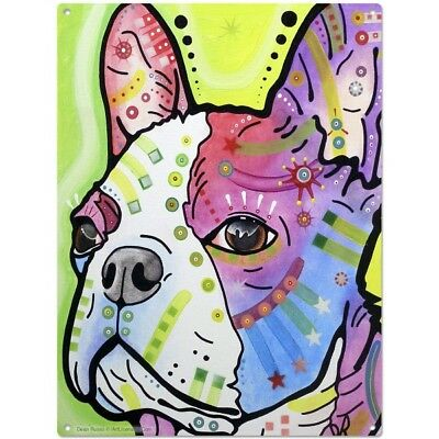 French Bulldog Pride Dean Russo Pop Art Sign Pet Steel Wall Decor 12 x 16