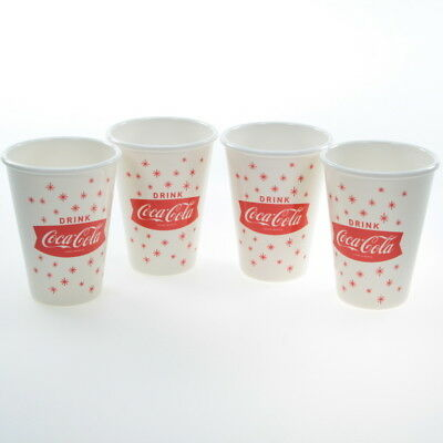 Coca-Cola Fishtail Logo Melamine Cup Set Vintage Style Coke Tabletop 12 oz.