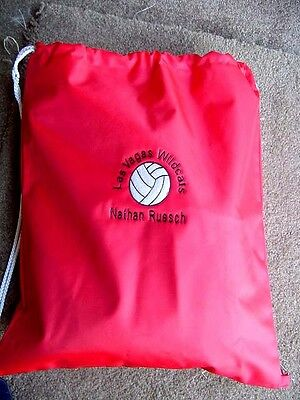 Personalized Boys Girls Volleyball Sports Bag Drawstring Backpack Waterproof