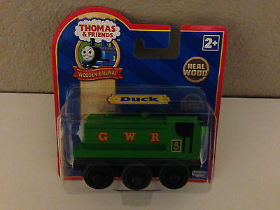 Thomas' Friend DUCK-NEW in pkg-wooden railway- FREE SHIP from USA- Authentic