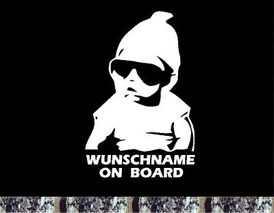Baby on Board Aufkleber Wunschname  Hangover Car Sticker