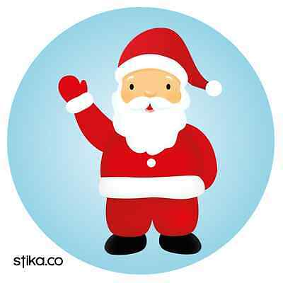 24-Pack 40mm Father Christmas Xmas Santa Stickers Decals ideal decorating cards