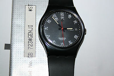 Vintage Japanese Swatch GB723 Genji 1991 Mint ! Calendar and hours for Japon
