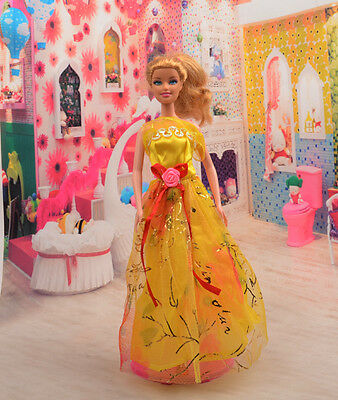 2014 Hot style Fashion Handmade princess  party Clothes dress For Noble Doll D34