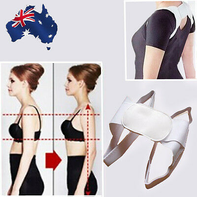 Adjustable Therapy Back Support Brace Band Posture Shoulder Corrector OSHOU3545