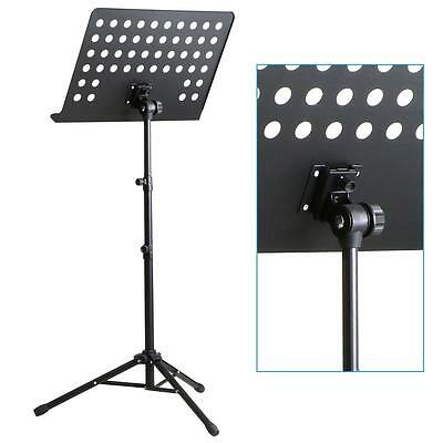 Metal Telescopic Folding Orchestral Sheet Music Stand Adjustable Tripod Base NEW