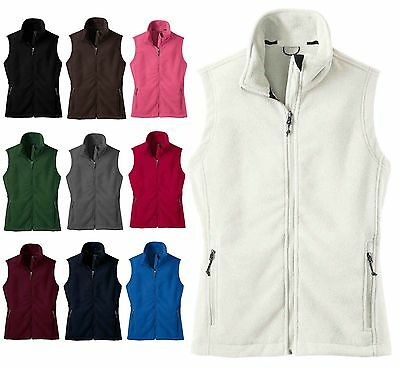 Ladies Zip Up, Super Soft, Mid-Weight, Fleece Vest, Zippered Pockets, Xs-4Xl