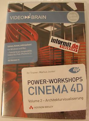 Video2brain Power Workshops CINEMA 4D Vol.2 - Architekturvisualisierung  - -50%!
