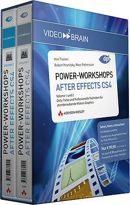 Video2brain: Power-Workshops After Effects CS4 Vol. 1+2 - jetzt -50%!