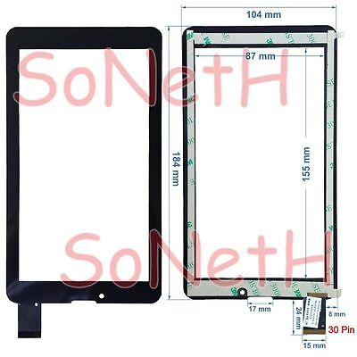 """Vetro Touch screen Digitizer 7,0"""" Majestic TAB 279 3G Tablet PC Nero"""