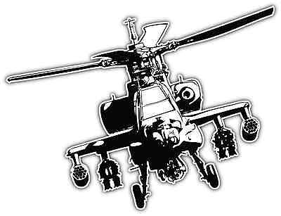 "Boeing AH-64 Apache Helicopter US Army Car Bumper Window Sticker Decal 5""X4"""