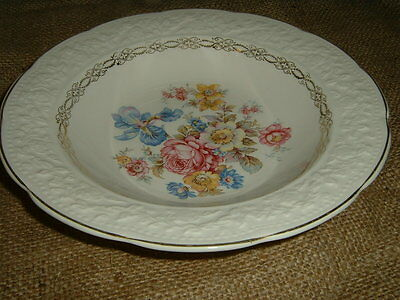 """EDWIN KNOWLES """"KNO260"""" 8 1/4"""" RIMMED SOUP BOWLS(2)"""