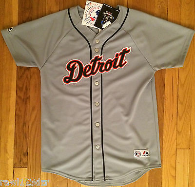 Dontrelle Willis Detroit Tigers Majestic Gray Youth Sewn Jersey XLarge XL NWT