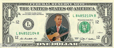 George Jones {Color} Dollar Bill Not Just a Novelty REAL Money!