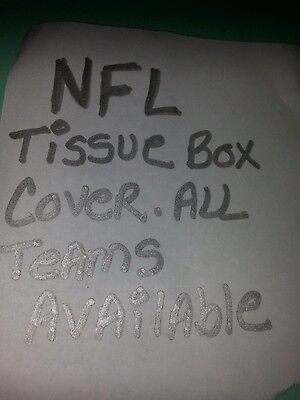 NFL  Football Tissue Box Cover handmade Plastic Canvas .all teams available.
