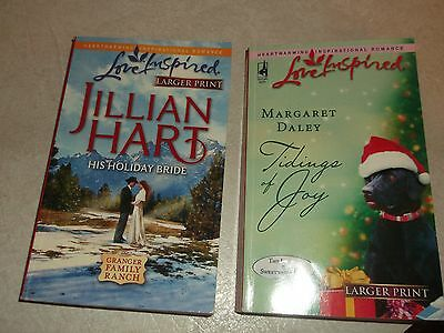lot of 2 Love Inspired Larger Print Christmas daley, hart, holiday bride, tiding
