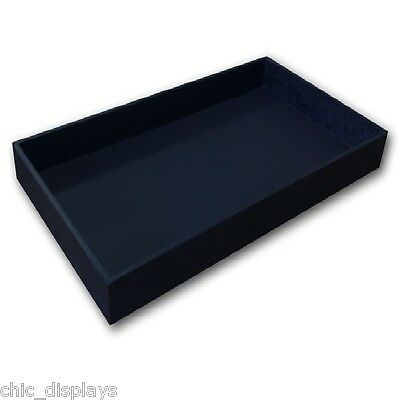 """2"""" High Wooden Jewelry Tray Leatherette Covered Display Tray Jewelry Wooden Tray"""