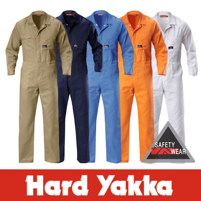 Hard Yakka Coverall Overalls Lightweight Cotton Drill Mechanic Y00030 Workwear