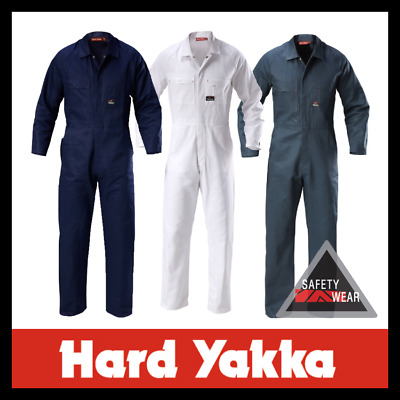 Hard Yakka Mid-Weight Cotton Drill Coverall Overalls ALL SIZES&COLOURS Y00010