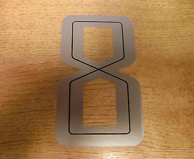 GUY MARTIN race number 8 - Black & Silver Sticker / Decal 100mm