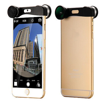 """3in1 Fisheye +Wide Angle +Macro Camera Selife Lens For iPhone 6 4.7"""" DC574"""