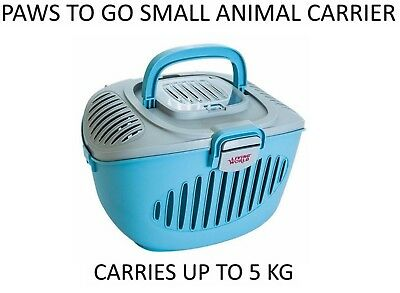 Living World Paws 2 Go Small Animal Rabbit Cat Pet Holiday Travel Carrier 0899