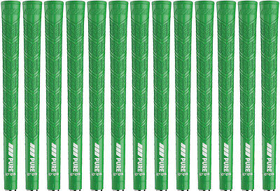 PURE DTX Green Midsize (+1/16) Golf Grips - Set of 13 - Authorized Distributor!