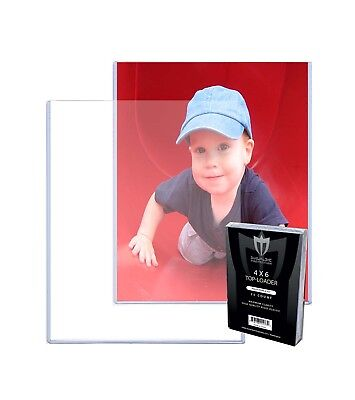 100 Max Pro 4 x 6 Hard Plastic Postcard Photo Topload Holder 4x6 Rigid Toploader