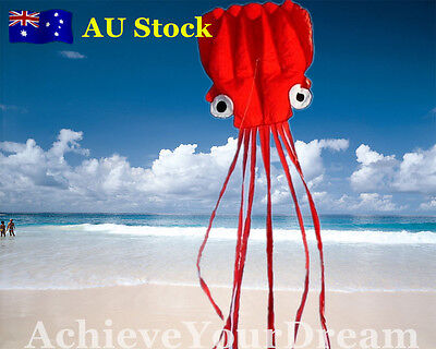 Red Octopus Soft Kite 120x550cm Line Grip included OKITE3401&OKLIN2040