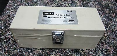TISSUE TEK III  ACCU-EDGE MICROTOME BLADE HOLDER # 4687 ( 2nd holder included)