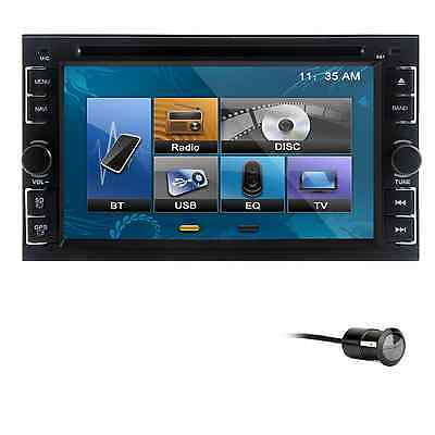 """2 DIN 6.2"""" Touch Screen Radio Car CD DVD MP3 IPOD BT Player Stereo +CAMERA"""