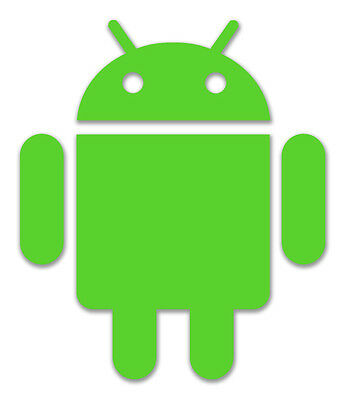 Android Sticker - *Pick Size and Colour* Google Mobile Cell Phones