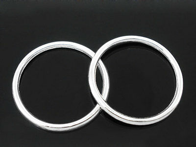 100 PCs SP Soldered Closed Jump Ring 24mm Dia.Findings