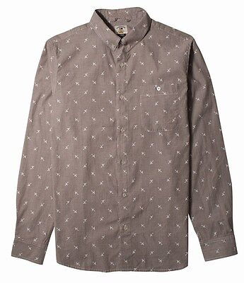 Fourstar Skateboards Clothing Brian Anderson Men's long-sleeve Brown Shirt Large