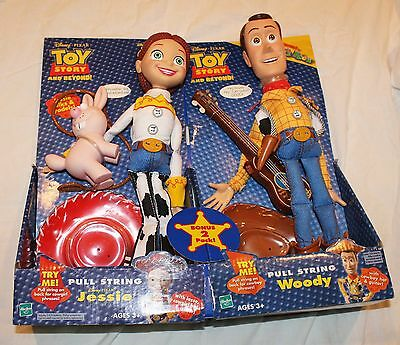Toy Story RARE 2 Pack Talking Pull String Jessie & Woody!