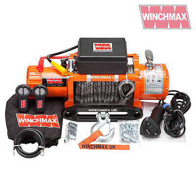 ELECTRIC WINCH 13500lb 24V SYNTHETIC ROPE WINCHMAX